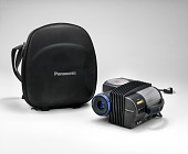view Panasonic portable color projector with case digital asset number 1