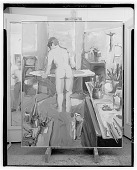 view Woman Ironing [painting] / (photographed by Walter Rosenblum) digital asset number 1