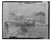 view Fishing off a Bridge [painting] / (photographed by Walter Rosenblum) digital asset number 1