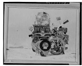 view Motorcycles [painting] / (photographed by Walter Rosenblum) digital asset number 1