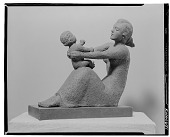view Mother and Child [sculpture] / (photographed by Walter Rosenblum) digital asset number 1