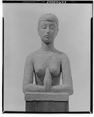 view Figure with Hands Clasped [sculpture] / (photographed by Walter Rosenblum) digital asset number 1