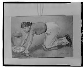 view Woman Washing the Floor [painting] / (photographed by Walter Rosenblum) digital asset number 1