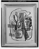 view Woman with Plant [painting] / (photographed by Walter Rosenblum) digital asset number 1