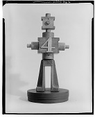 view Figure with Number 4 [sculpture] / (photographed by Walter Rosenblum) digital asset number 1
