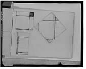 view Sketchbook 1925. Sheet C: One Lozenge, Two Rectangle Compositions [sketch] / (photographed by Walter Rosenblum) digital asset number 1