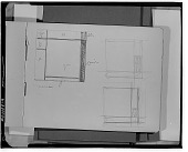 view Sketchbook 1925. Sheet A: Three Square Compositions [sketch] / (photographed by Walter Rosenblum) digital asset number 1