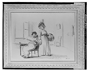 view Domestic Scene [drawing] / (photographed by Walter Rosenblum) digital asset number 1