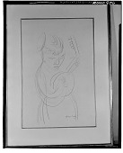 view Woman with Lute [drawing] / (photographed by Walter Rosenblum) digital asset number 1