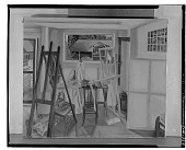 view Artist's Studio with Chair [painting] / (photographed by Walter Rosenblum) digital asset number 1