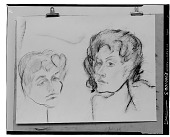 view Double Self-Portrait [drawing] / (photographed by Walter Rosenblum) digital asset number 1