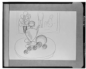 view Still Life with Fruit and Pitcher [drawing] / (photographed by Walter Rosenblum) digital asset number 1
