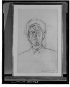 view Self Portrait [drawing] / (photographed by Walter Rosenblum) digital asset number 1