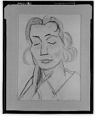 view Portrait of Eva Mudocci [drawing] / (photographed by Walter Rosenblum) digital asset number 1