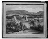 view Barn and Farm Fields [painting] / (photographed by Walter Rosenblum) digital asset number 1