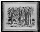 view Landscape with Trees [painting] / (photographed by Walter Rosenblum) digital asset number 1