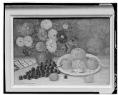 view No Title Given: Still Life with Fruit and Flowers [painting] / (photographed by Walter Rosenblum) digital asset number 1