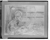 view Man Reading [art work] / (photographed by Walter Rosenblum) digital asset number 1