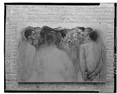 view Discussion Group (II), (unfinished version) [painting] / (photographed by Walter Rosenblum) digital asset number 1