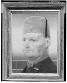 view Man Wearing a Fez [painting] / (photographed by Walter Rosenblum) digital asset number 1
