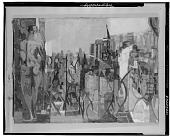 view Cityscape with Figure [painting] / (photographed by Walter Rosenblum) digital asset number 1