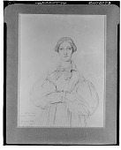 view Portrait of Mlle. Louise Vernet [drawing] / (photographed by Walter Rosenblum) digital asset number 1