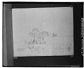 view No Title Given: Village Scene [drawing] / (photographed by Walter Rosenblum) digital asset number 1