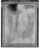 view Girl with Flowers [drawing] / (photographed by Walter Rosenblum) digital asset number 1