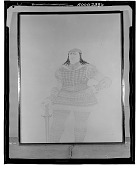 view No Title Given: Man with Sword [drawing] / (photographed by Walter Rosenblum) digital asset number 1