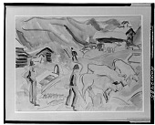 view Mountains and Livestock [painting] / (photographed by Walter Rosenblum) digital asset number 1