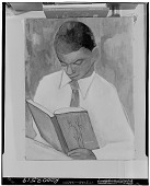 view Boy Reading a Book [painting] / (photographed by Walter Rosenblum) digital asset number 1