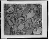 view Trois Arabes et Chameau [painting] / (photographed by Walter Rosenblum) digital asset number 1