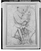 view The Bagpipe Player, [drawing] / (photographed by Walter Rosenblum) digital asset number 1