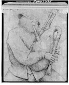 view The Bagpipe Player (detail), [drawing] / (photographed by Walter Rosenblum) digital asset number 1