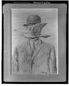 view Homme au Chapeau Melon [drawing] / (photographed by Walter Rosenblum) digital asset number 1