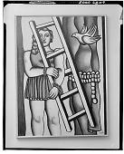 view La Jeune Fille A L'Echelle [painting] / (photographed by Walter Rosenblum) digital asset number 1