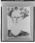 view Portrait [drawing] / (photographed by Walter Rosenblum) digital asset number 1