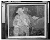view Two Men [painting] / (photographed by Walter Rosenblum) digital asset number 1