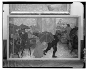 view Rainy Day on Columbus Avenue [painting] / (photographed by Walter Rosenblum) digital asset number 1