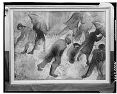 view People Walking in a Storm [art work] / (photographed by Walter Rosenblum) digital asset number 1