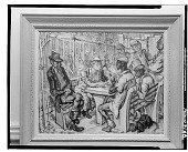 view Playing Cards in the Park [painting] / (photographed by Walter Rosenblum) digital asset number 1