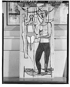 view Trapeze Acrobats [painting] / (photographed by Walter Rosenblum) digital asset number 1