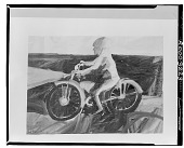 view Motorcycle and Rider [painting] / (photographed by Walter Rosenblum) digital asset number 1