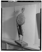 view Figure with Shield and Spear [sculpture] / (photographed by Walter Rosenblum) digital asset number 1