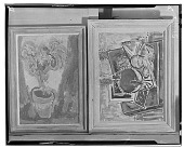 view Two Paintings: Tiger Lily (left) [painting] / (photographed by Walter Rosenblum) digital asset number 1