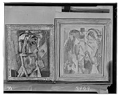 view Two Paintings: Two Heads (left) [painting] / (photographed by Walter Rosenblum) digital asset number 1