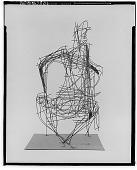 view No Title Given: Wire Figure [sculpture] / (photographed by Walter Rosenblum) digital asset number 1