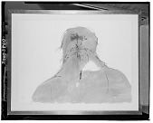 view No Title Given: Bust of a Man with a Beard [graphic arts] / (photographed by Walter Rosenblum) digital asset number 1