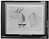 view Deer and Cat [painting] / (photographed by Walter Rosenblum) digital asset number 1