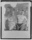 view Grosz as clown and variety girl [collage] / (photographed by Walter Rosenblum) digital asset number 1